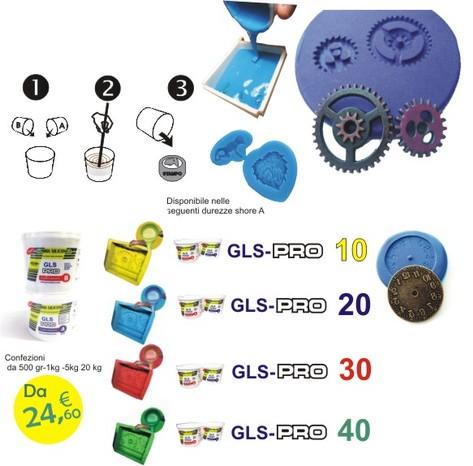 Gls pro 20 1kg gomma siliconica liquida da colata milan for Gomma siliconica prochima